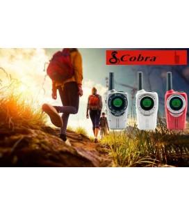 COBRA SM-660 TRIO WALKIES PMR USO LIBRE COLORES ROJO/PLATA/BLANCO + PINGANILLOS DE REGALO