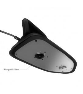 SHARK-1430 ANTENA ALETA V/U NEGRA BASE MAGNETICA 4 M CABLE PL