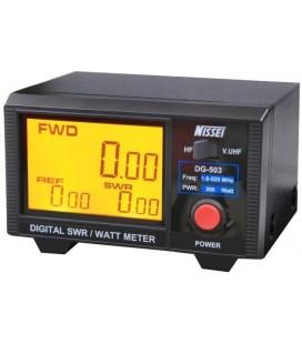 NISSEI DG-503 MEDIDOR DE ESTACIONARIAS ROE Y WATIMETRO DIGITAL DE ALTA CALIDAD DIGITAL HF/VHF/UHF 200W