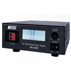 NISSEI NS-2230D FUENTE DE ALIMENTACION DIGITAL REGULABLE DE 9 A 15 VCC Y DE 28 A 30 AMP.
