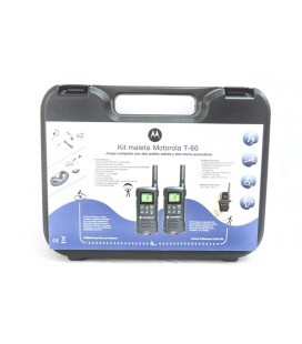 TLKR T60 MOTOROLA KIT MALETA walkie uso libre + REGALO 2 PINGANILLOS